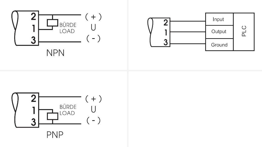 Схема подключения SRW2-PNP 1SEC 24VDC