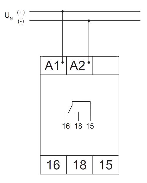 Схема подключения V2ZA10 3MIN 24-240V AC/DC