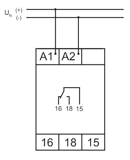 Схема подключения V2ZE10 24-240V AC/DC