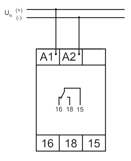 Схема подключения V2ZE10 24-240V AC/DC - VE 10