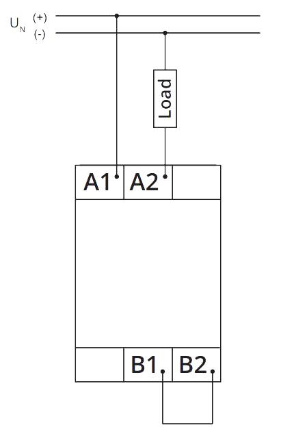 Схема подключения V2ZET 12-240V AC/DC
