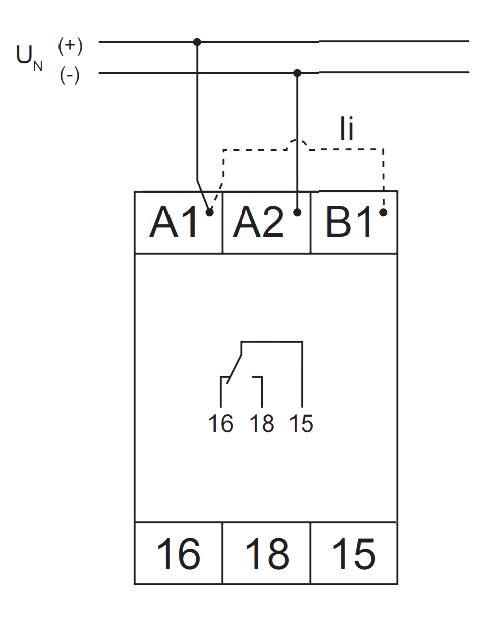 Схема подключения V2ZI10 12-240V AC/DC