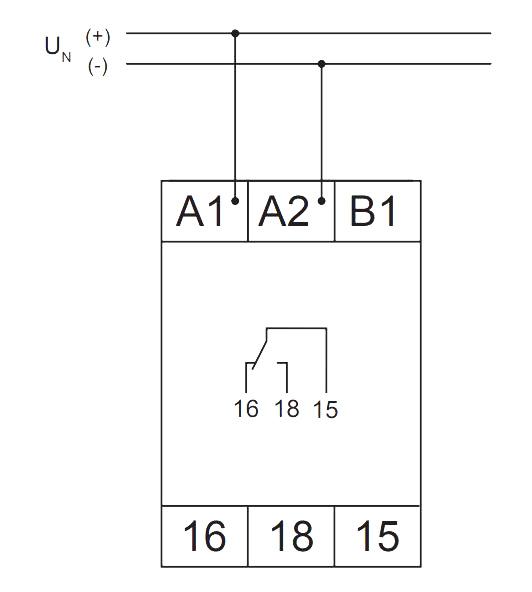 Схема подключения V2ZM10-A 12-240V AC/DC-VE 10