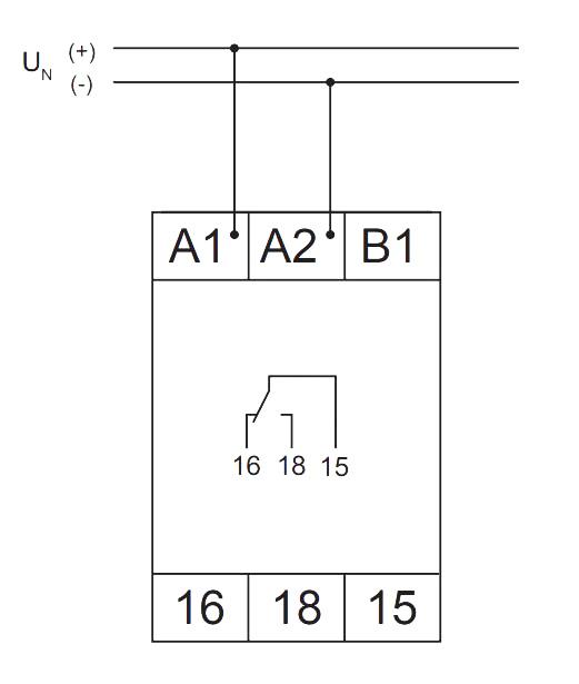 Схема подключения V2ZM10 12-240V AC/DC