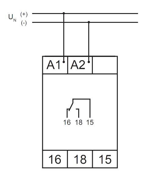 Схема подключения V2ZQ10P 24-240V AC/DC