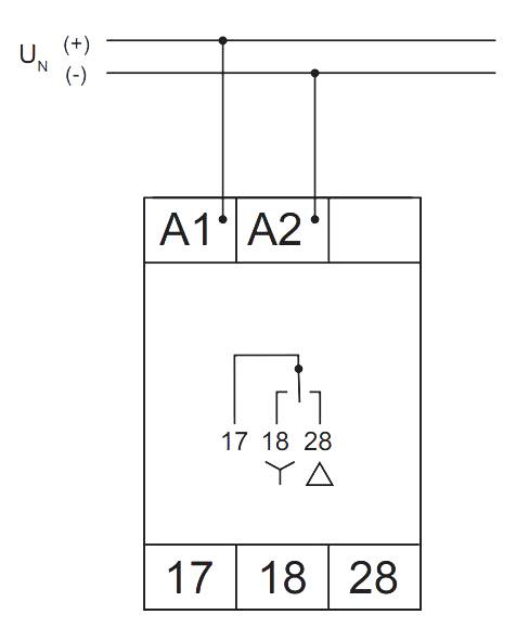 Схема подключения V2ZS20 12-240V AC/DC