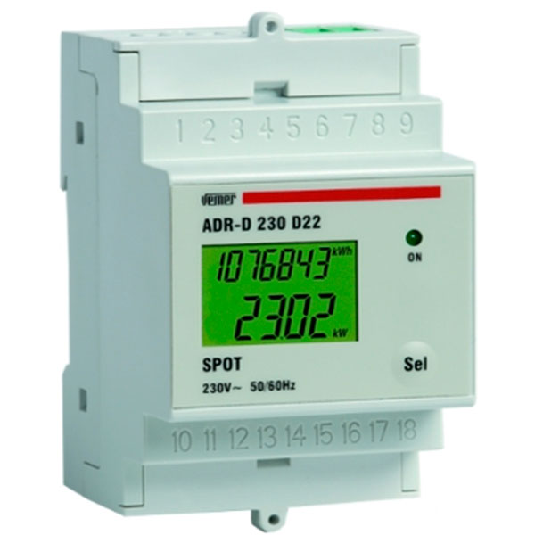 Adr d 230 d22a spot power line meter device
