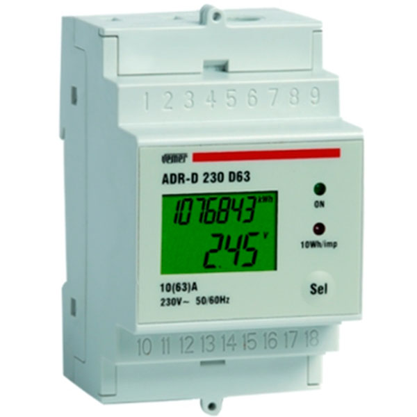 Adr d 230 d63a power line meter device