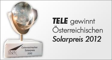 TELE получает австрийскую премию Solarpreis 2012