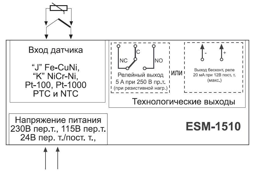 Схема подключения контроллера ESM-1510