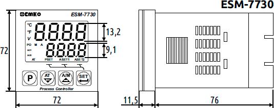 Габаритные размеры ESM-7730