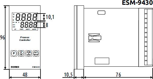 Габаритные размеры ESM-9430