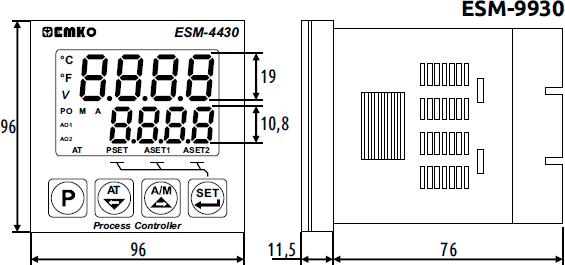 Габаритные размеры ESM-9930